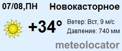 Погода в новокасторном на неделю