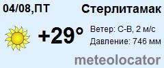 МЕТЕОНОВА - погода в Стерлитамаке на месяц апрель