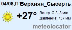 Погода в сысерть на 10